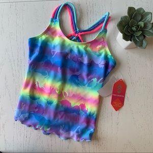 free country tankini swimwear NWT 8